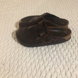 Brown Boston Birkenstocks